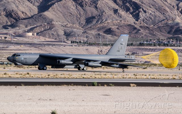 AFR610013 — - B-52H 61-0013, 96 Bomb Squadron taxiing at Nellis AFB. NV.