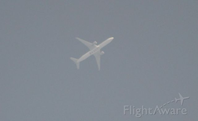 Boeing 777-200 (A7-BAN) - Caught flying overhead @ 35000 feet, Qatar 870, DOH - PVG