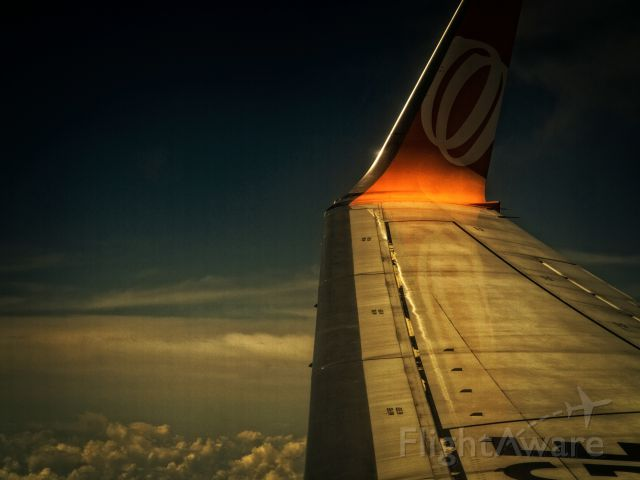 Boeing 737-800 (G-RUUU) - In flight from SBSV to SBCF