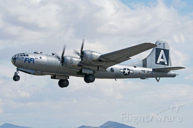Boeing B-29 Superfortress (N529B) - FiFi just lifting off runway 24 at Fox Field