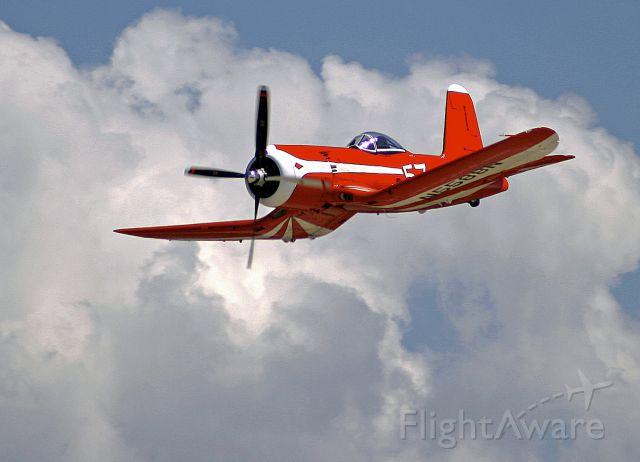 VOUGHT-SIKORSKY V-166 Corsair (N5588N) - F2G-1 Corsair in flight at Oshkosh, Wisconsin