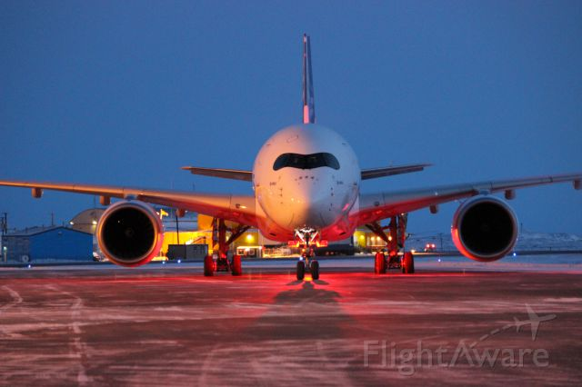 Airbus A350-900 (F-WZGG) - A350 Leaving YFB after cold weather testing