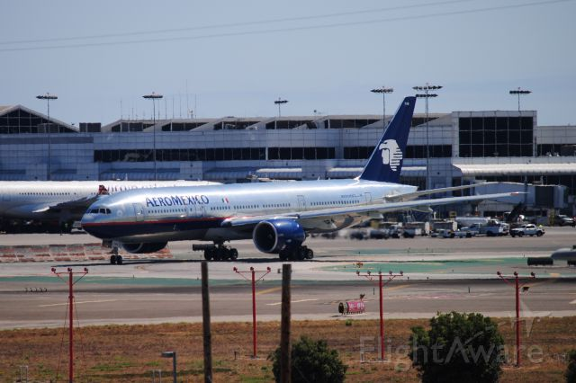 Boeing 777-200 (N745AM) - Such a RARE visitor to KLAX!!  The Aeromexico 777-200ER!  LOVELY!
