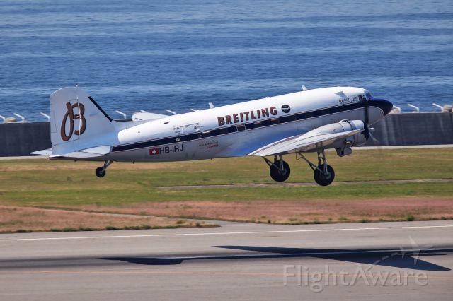 Douglas DC-3 (HB-IRJ) - BREITLING DC-3 HB-IRJ - WOLRD TOUR 2017 in KOBE.