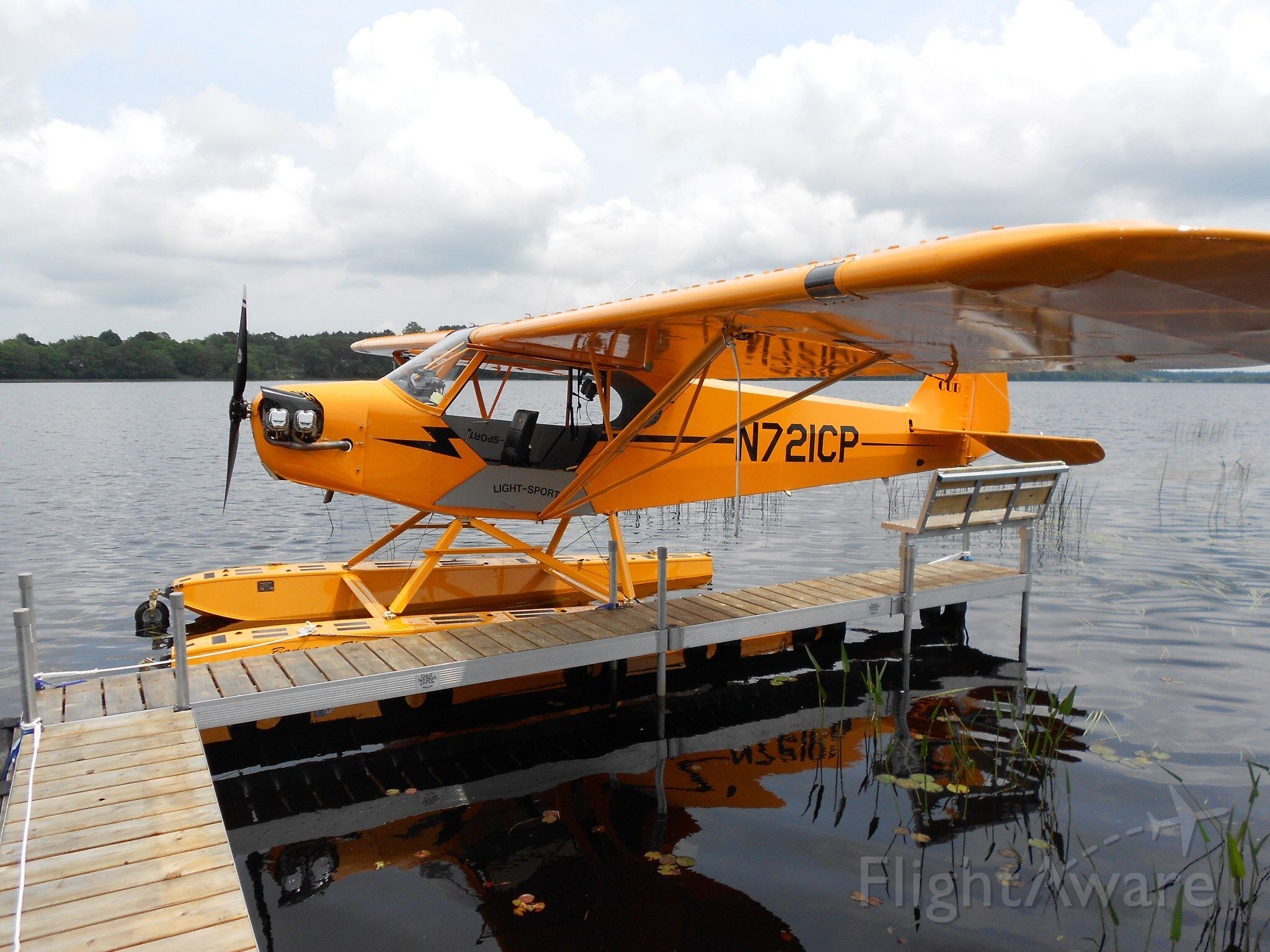 Piper L-18B Cub Special (N721CP) - At the dock