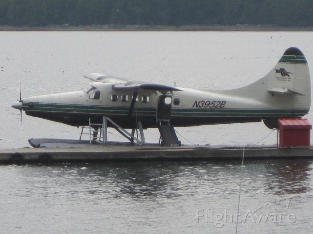 De Havilland Canada DHC-3 Otter (N3952B) - A Dehavilland DHC-3 Turboprop Seaplane docked near Ketchikan International Airport