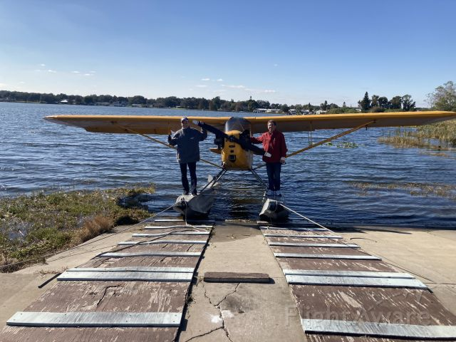 N7279H — - Flying In the yellow cub N7279H @ Jack Brown seaplane base in Winterhaven Florida January 2021