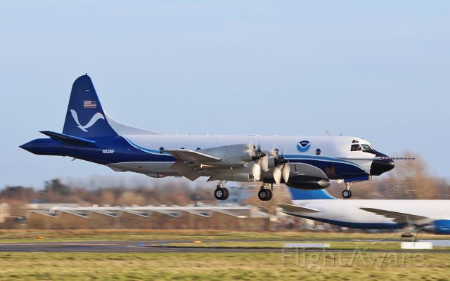Lockheed P-3 Orion (N42RF) - noaa wp-3d orion n42rf returning to shannon after another mission 14/2/18.
