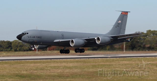 Boeing C-135B Stratolifter (ANG71451) - A Tennessee Air National Guard Boeing KC-135R Stratotanker during a series of touch-and-gos at Carl T. Jones Field, Huntsville International Airport, AL - October 26, 2017.