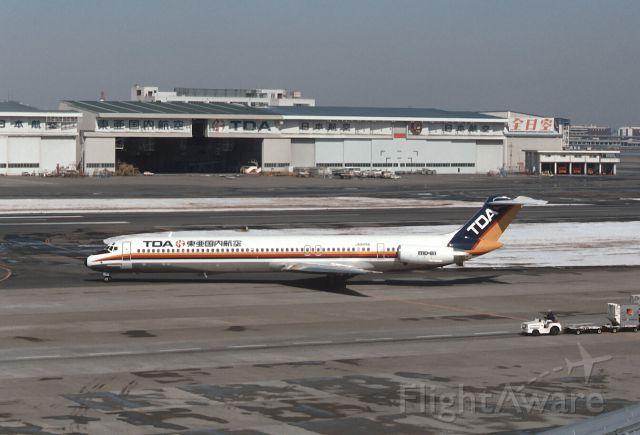 McDonnell Douglas MD-81 (JA8496) - Taxing at Tokyo-Haneda Intl Airport on 1987/03/08
