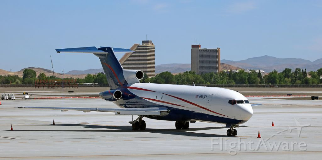 BOEING 727-200 (N727US) - JUS's N727US (ex American Airlines as N715AA and ex Capital Cargo International as N715AA), a B722, sits on the November Ramp for a daytime rest at RNO.br /(Photo taken one month ago: 5 Jun 2020)