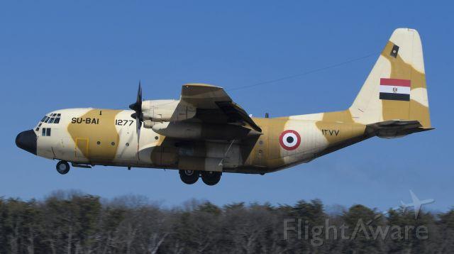 Lockheed C-130 Hercules (SU-BAI) - Near touch down on 33L.