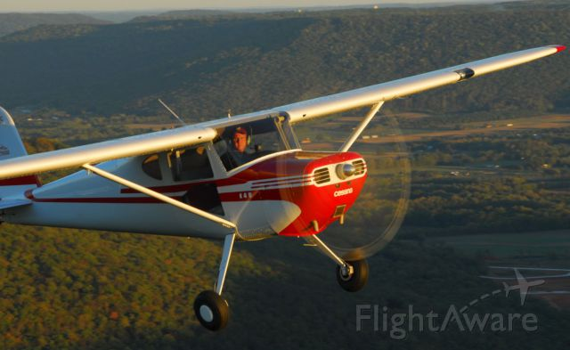 Cessna 140 — - Air-to-Air photo of a beautifully restored Cessna 140A Patroller.  Photo copyright: BlakeMathis.com