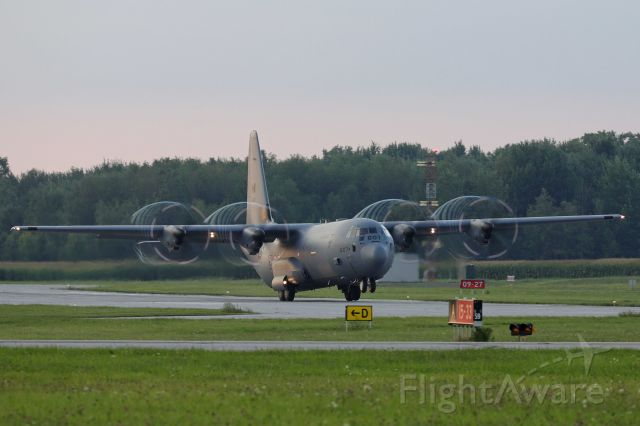 Lockheed C-130 Hercules (13-0607) - An RCAF C-130-J30 Super Hercules departing for the twilight performance Airshow London Skydrive after the rain cleared up Friday, 27 Aug 2021.