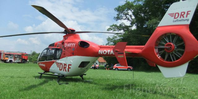 Eurocopter EC-635 (D-HYYY) - motorcycle riders accident , EC-H135 rescue helicopter , (DRF)