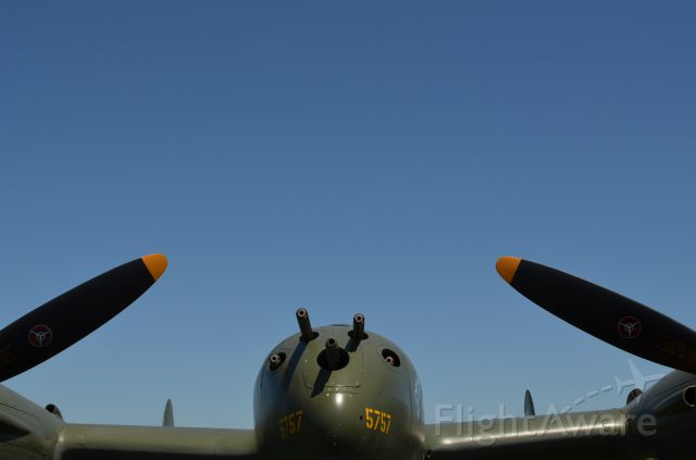 Lockheed P-38 Lightning (N17630) - EAA 2011 P-38 Glacier Girl, a little different perspective on her.