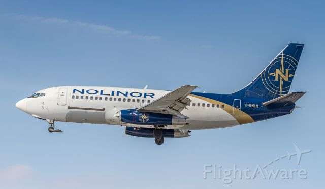 Boeing 737-200 (C-GNLN) - Nolinor 737-2B6C/Adv with some unique features for those gravel strips up North!
