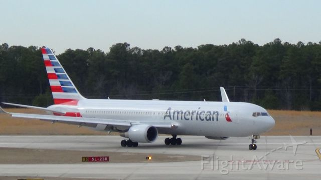 BOEING 767-300 (N344AN) - American 173 from London LHR to Rdu at 2:34 P.M. 5 March 2014.