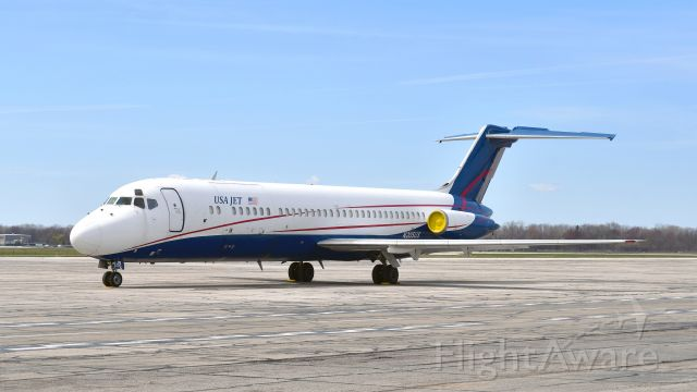 McDonnell Douglas DC-9-30 (N205US) - USA Jet Airlines McDonnell Douglas DC-9-32CF N205US in Willow Run