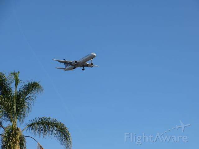 Boeing 757-200 (N535UA) - Shot from Balboa Park in San Diego