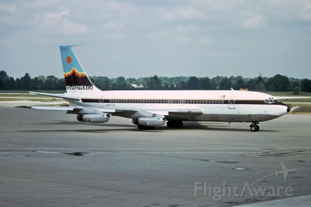 Boeing 720 (N8711E) - One from the archives, seen in Pittsburgh in 1983. This aircraft was owned by a number of different airlines, originally delivered to Eastern Airlines in 1962.