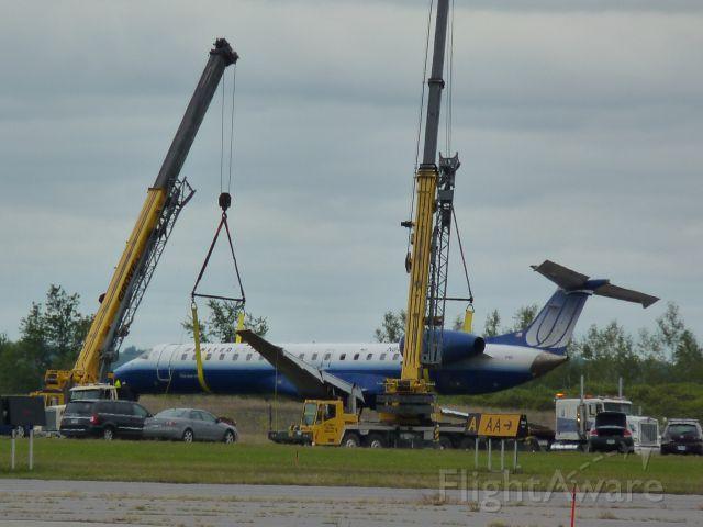 Embraer ERJ-145 — - crashed at Ottawa yesterday,apparently it hyro-planed upon landing,no injuries,just a damaged bird.