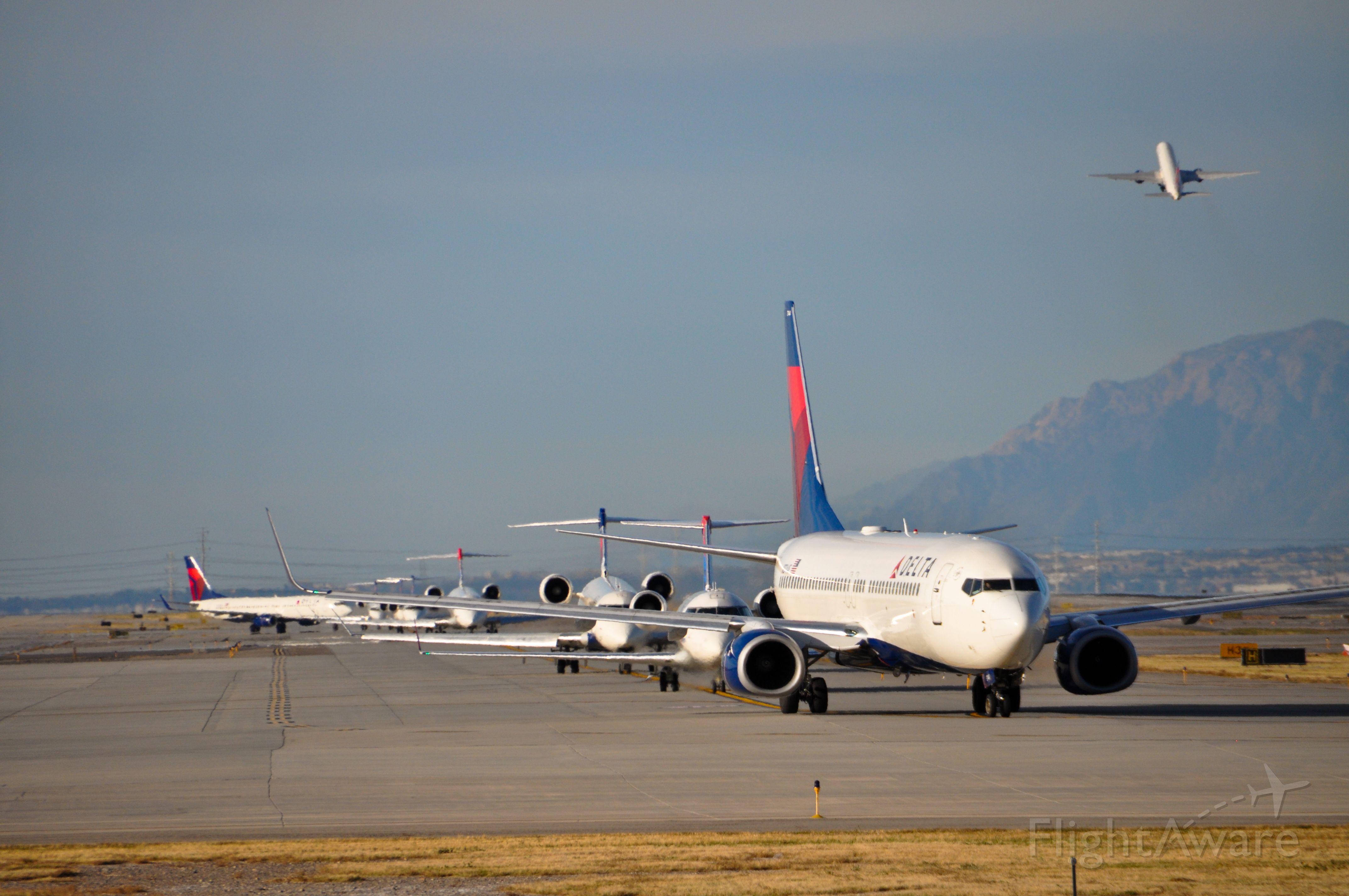 — — - Departing Salt Lake City