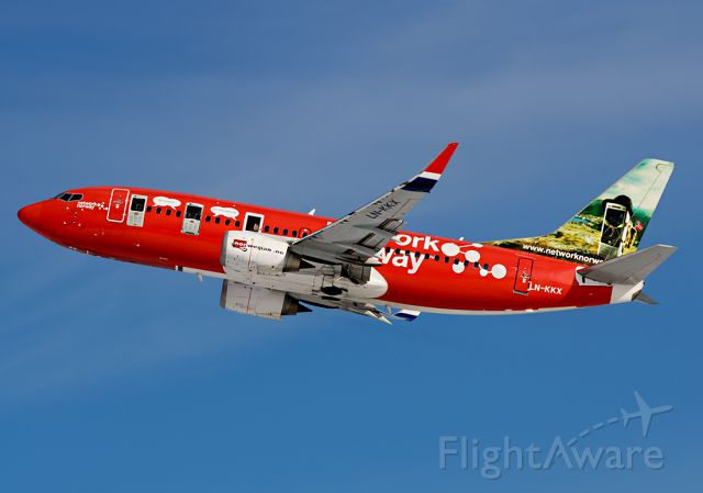 BOEING 737-300 (LN-KKX) - With cellphones painted on the fuselage and advert for an cellphone network...2008
