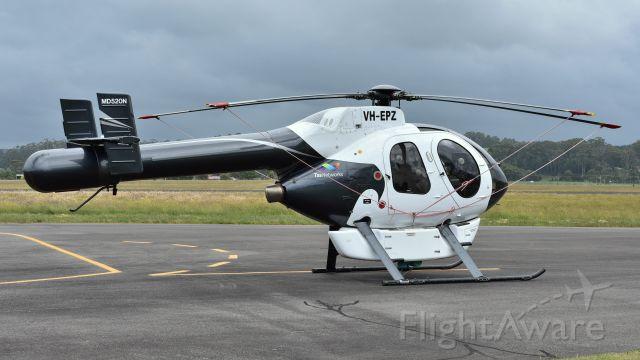 VH-EPZ — - 1992 Mcdonell Douglas Helicopter co MD-520N VH-EPZ (cn #53) at Burnie Wynyard Airport Tasmania on December 7 2016.