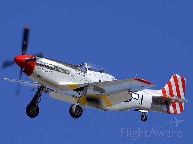 North American P-51 Mustang (NL351MX) - North American P-51D Mustang NL351MX February at the Air Force Heritage Conference on March 4 2012.