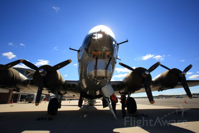 Boeing B-17 Flying Fortress — - Aluminum Overcast makes a tour stop in Manassas, Virginia.