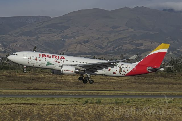"""Airbus A330-200 (EC-MJA) - The EC-MJA wearing a special livery promoting the Spanish store """"El Corte Inglés"""""""
