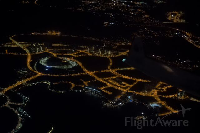 Airbus A330-300 (9M-MTG) - 20th March., 2017: Aerial view of the Putrajaya International Convention Center shortly after departure from KLIA en route to Osaka.