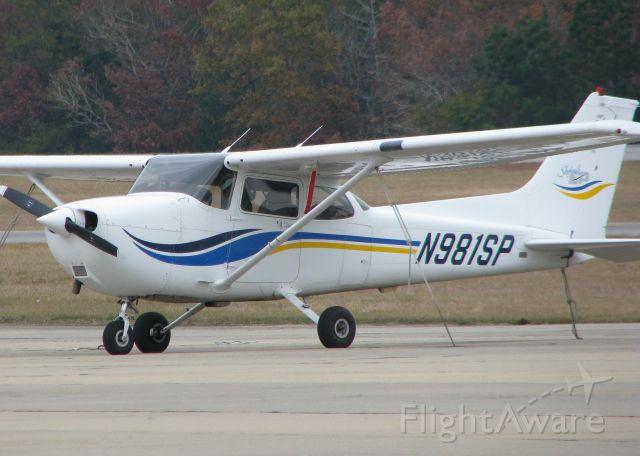 Cessna Skyhawk (N981SP) - Parked at the Ruston Louisiana airport.