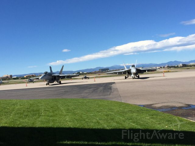 McDonnell Douglas FA-18 Hornet — - Two f-18s visiting today