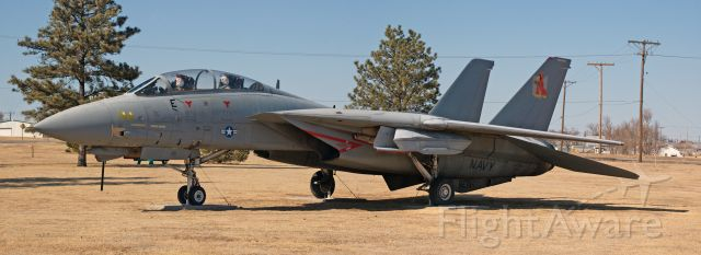 Grumman F-14 Tomcat (USNAVY) - Since my really bad image of this plane was so popular, I had an opportunity to make a more respectable image.  I hope you enjoy.  She is tied down in a park off I-70 in WaKeeney Kansas.