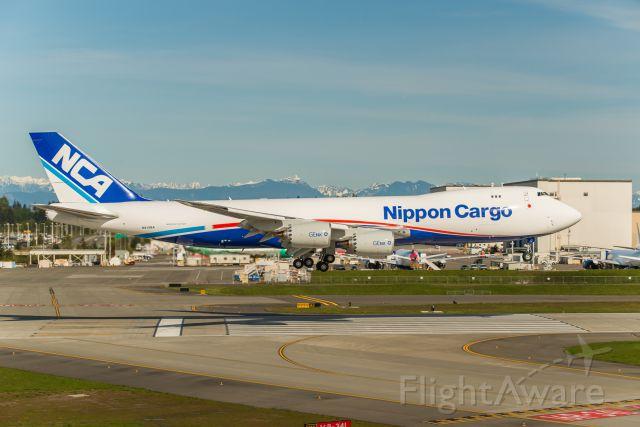 Boeing 747-200 (N815BA) - Landing on runway 16R after a B1 test flight