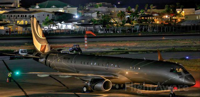 Embraer ERJ-190 (N527AH) - Private N527AH park on the ramp at TNCM St Maarten.