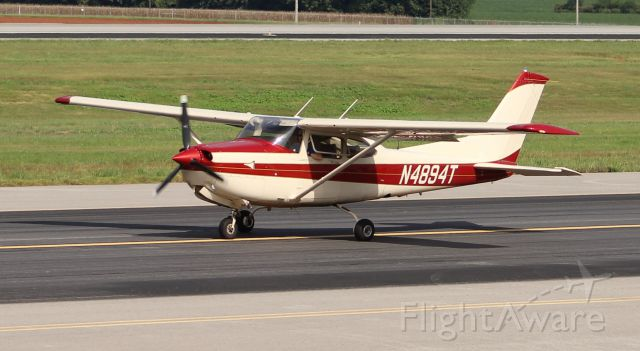 Cessna Skylane (N4894T) - A Cessna 182 Skylane moving down the west taxiway at Huntsville International - August 23, 2016