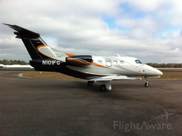 Embraer Phenom 100 (N101FG) - This aircraft supercedes previous University Athletic Association aircraft registered as N101FG.  Please edit the information accordingly.