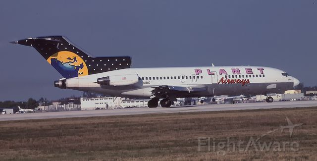 N1910 — - Planet Airways ready for take off. 2-12-2000.
