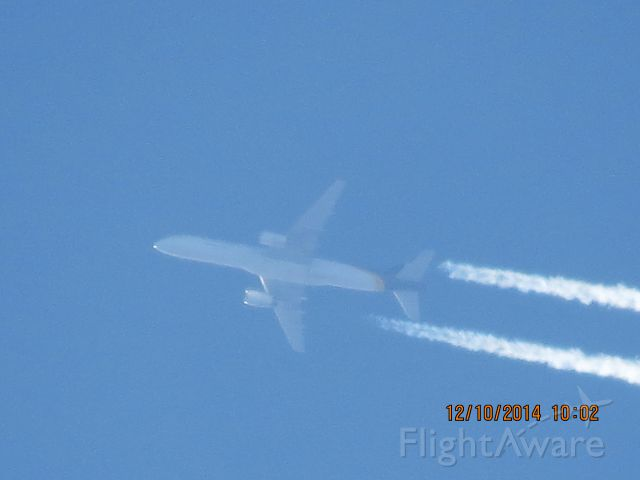 Boeing 757-200 (N464UP) - UPS flight 2871 from ABQ to SDF over Northeastern Oklahoma and Southeastern Kansas State Line at 37,000 feet.