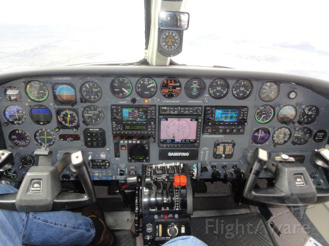 Cessna Chancellor (N414WB) - Cessna 414WB Inst. Panel