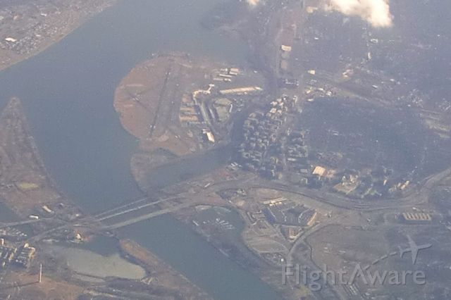 — — - Reagan Washington National Airport from 26K on 12 Feb 2011 during lower than normal altitude flight from Hartford to Charlotte. (due to turbulence)