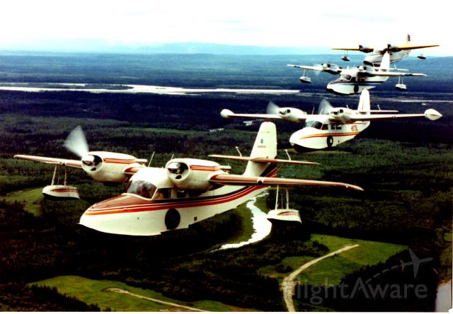 Grumman G-44 Widgeon (N575L) - Formation of Grumman Widgeon flying out of Fairbanks Alaska