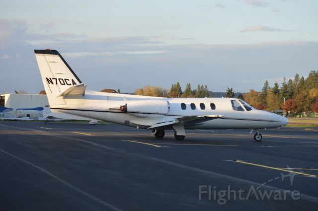 Cessna 500 Citation 1 (N70CA) - Parked on the ramp for a while now...