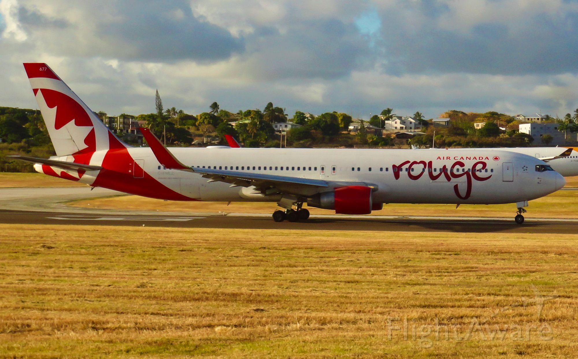 BOEING 767-300 (C-FMLZ) - ROU1715 to Toronto starting takeoff roll on runway 09