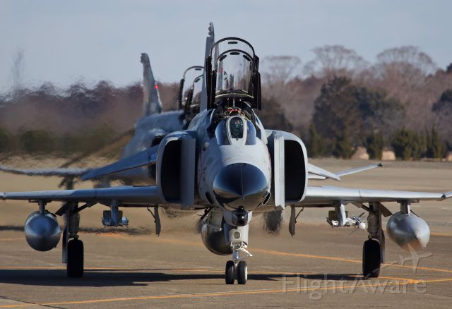 """McDonnell Douglas F-4 Phantom 2 (37-8315) - """"Phace to Phace""""- F-4EJ Kai of the 302nd Tactical Fighter Squadron taxiing out for a morning sortie. The 302 will retire their fleet of Phantoms in March and transition to the F-35 in 2020 (please view in """"full"""" for highest image quality)"""