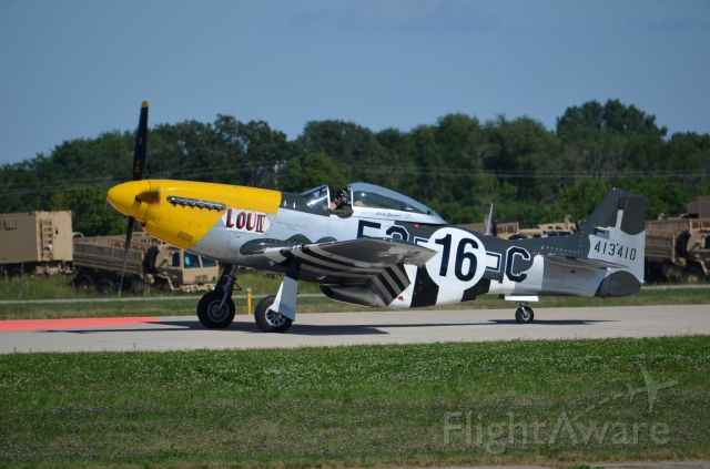 North American P-51 Mustang — - EAA 2011 P-51D Lou IV; taxiing back.