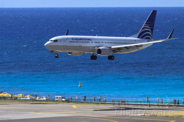 Boeing 737-800 (HP1716CMP) - Copa airlines over maho beach